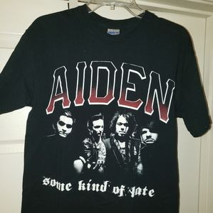 Aiden Punk Rock Band Black T-Shirt Men's Size Medi